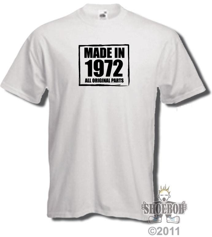 футболка с надписью 1972