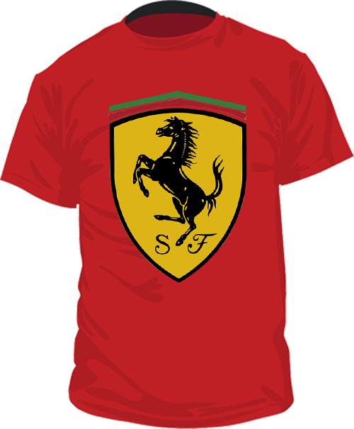 футболки с логотипом феррари