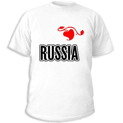 майки с надписью россия