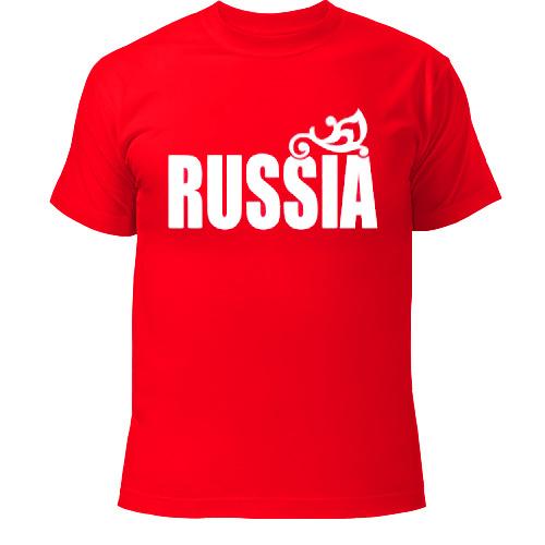 футболки с логотипом россия
