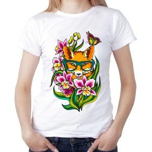 Изображение Лисичка в цветах