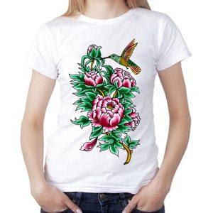 Изображение Колибри в цветах