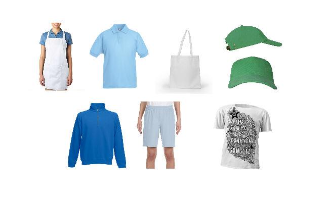 фото продукции цифровая печать в москве на ткани, футболках, фартуках, шортах