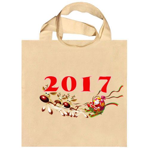 Новогодняя сумка для раскрашивания от Принтаники