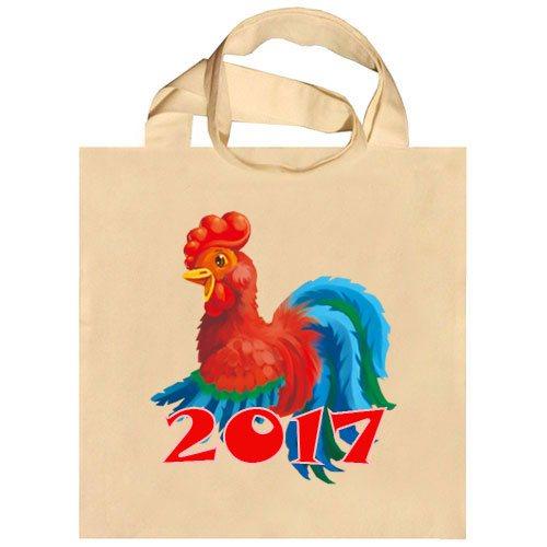 Новогодние сумки с петухом 2017 года для подарков