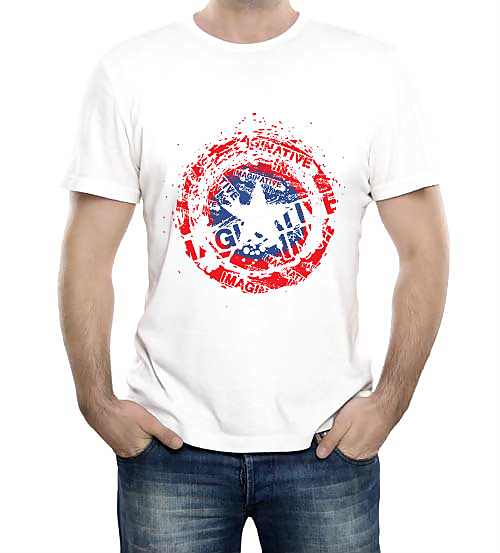 Изображение Футболка со щитом Капитана Америки