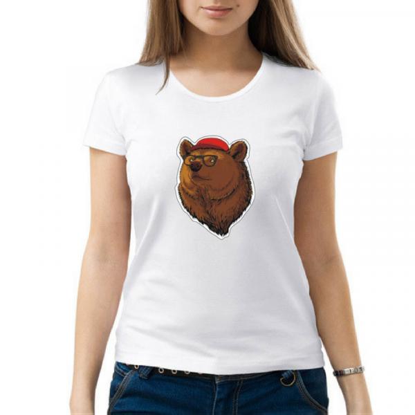 Изображение Футболка с медведем женская