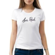 """Изображение Футболка с надписью """"Я люблю рок"""""""