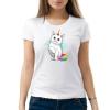 """Изображение Женская футболка с принтом """"Радужный кот"""""""