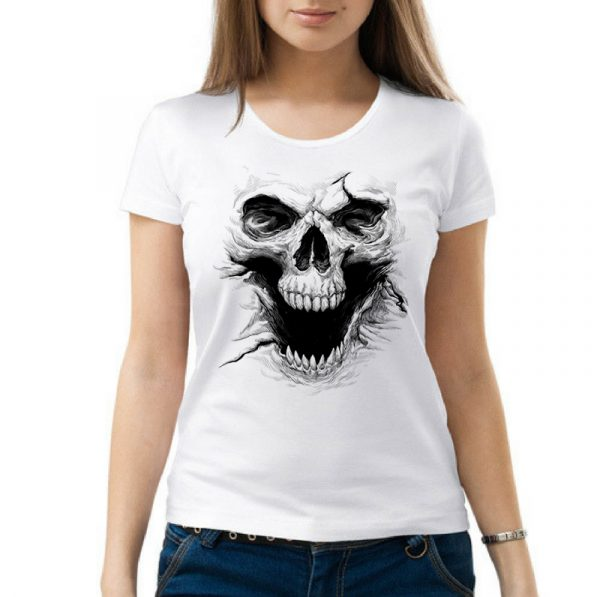 Изображение Женская футболка с черепом