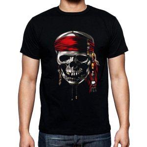 Изображение Мужская футболка с черепом пирата
