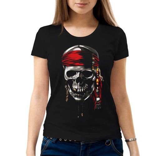 Изображение Женская футболка с черепом пирата