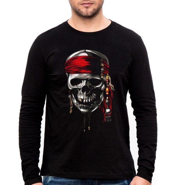 Изображение Мужской лонгслив с черепом пирата