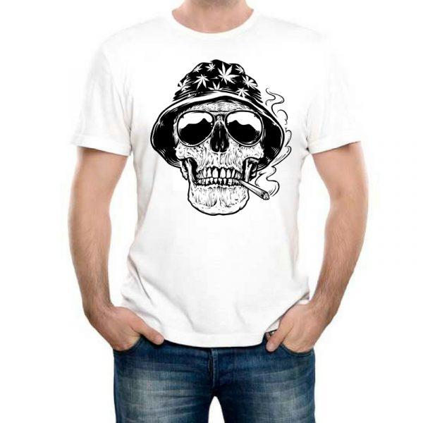 Изображение Мужская футболка с черепом растамана