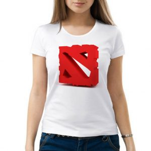 Изображение Женская футболка Dota лого