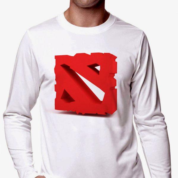 Изображение Мужской лонгслив Dota лого