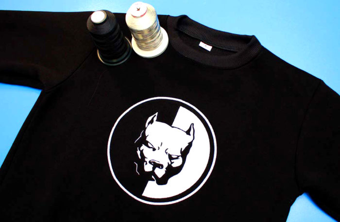 Машинная вышивка на ткани рисунков, логотипов и любого другого дизайна