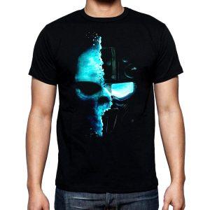 Изображение Мужская футболка Кибер Череп