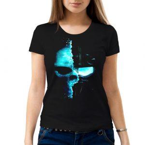 Изображение Женская футболка Кибер Череп