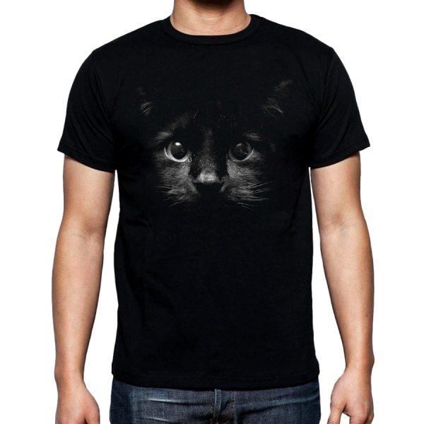 Изображение Мужская футболка с черным котом