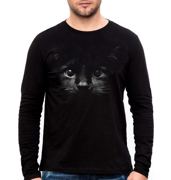 Изображение Мужской лонгслив с черным котом