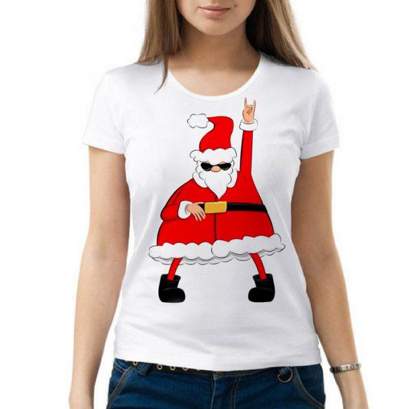 Изображение Женская футболка Крутой Санта