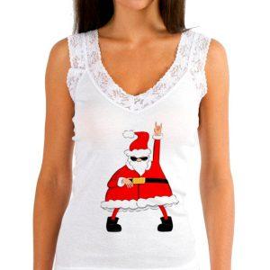 Изображение Женская майка Крутой Санта