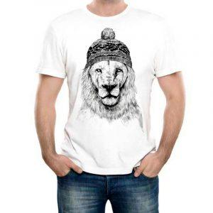 Изображение Мужская футболка Лев в Шапке