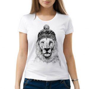 Изображение Женская футболка Лев в Шапке