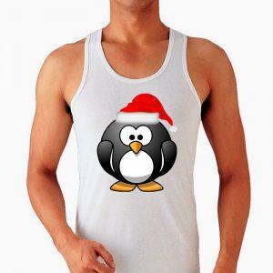 Изображение Мужская майка Новогодний Пингвин