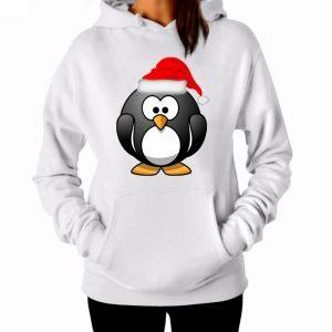 Изображение Женская толстовка Новогодний Пингвин