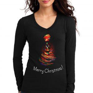 Изображение Женский лонгслив Рождественская елка