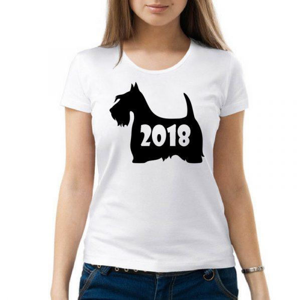 Изображение Женская футболка Собачка 2018