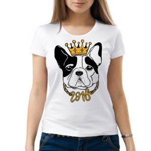 Изображение Женская футболка Собака с короной 2018