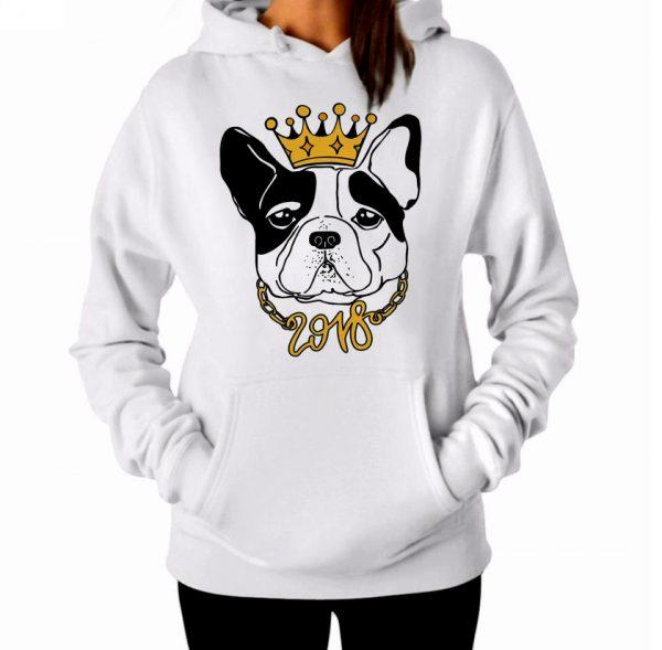 Изображение Женская толстовка Собака с короной 2018