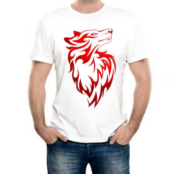 Изображение Мужская футболка Красная Собака