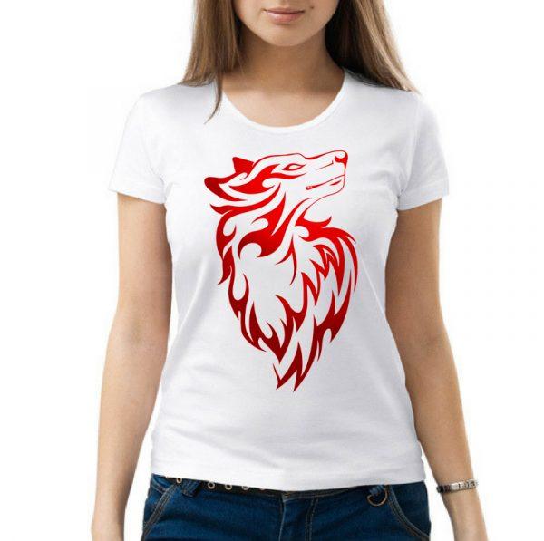 Изображение Женская футболка Красная Собака