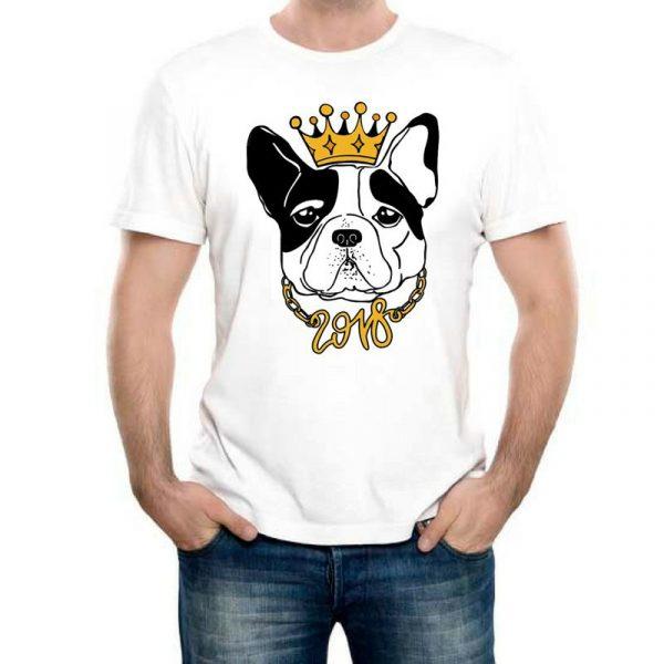 Изображение Мужская футболка Собака с Короной