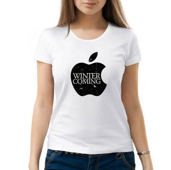 Изображение Женская футболка Apple Зима Близко - Игра Престолов