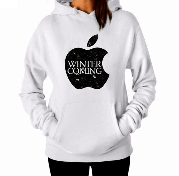 Изображение Женская толстовка Apple Зима Близко - Игра Престолов