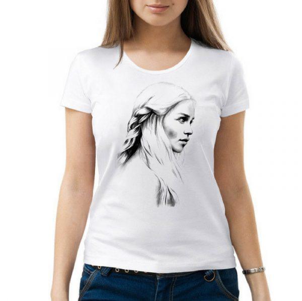 Изображение Женская футболка Арт Дейенерис - Игра Престолов
