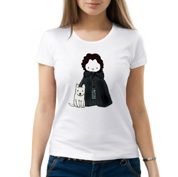 Изображение Женская футболка Арт Джон Сноу - Игра Престолов