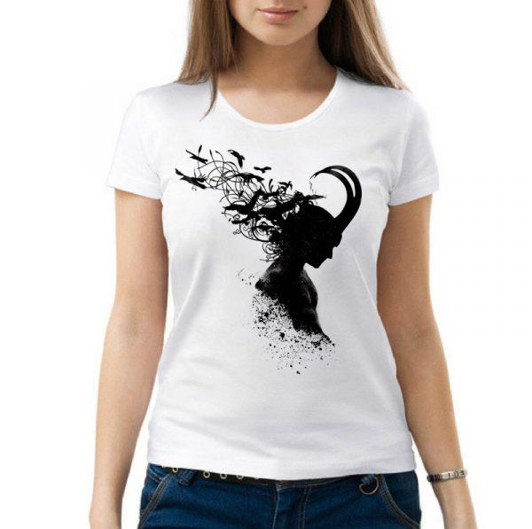 Изображение Женская футболка силуэт Локи