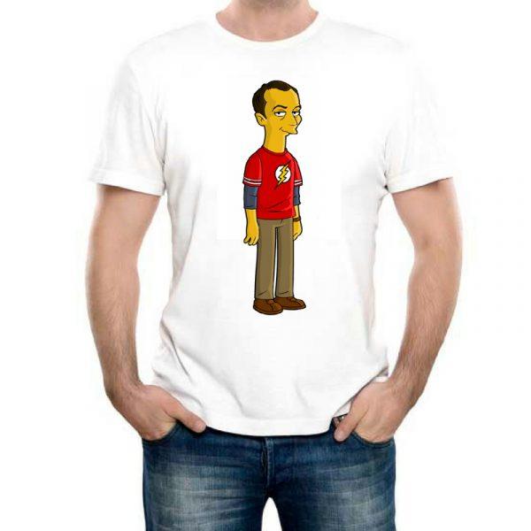 Изображение Мужская футболка Теория Большого Взрыва - мультяшный Шелдон