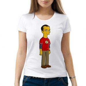 Изображение Женская футболка Теория Большого Взрыва - мультяшный Шелдон