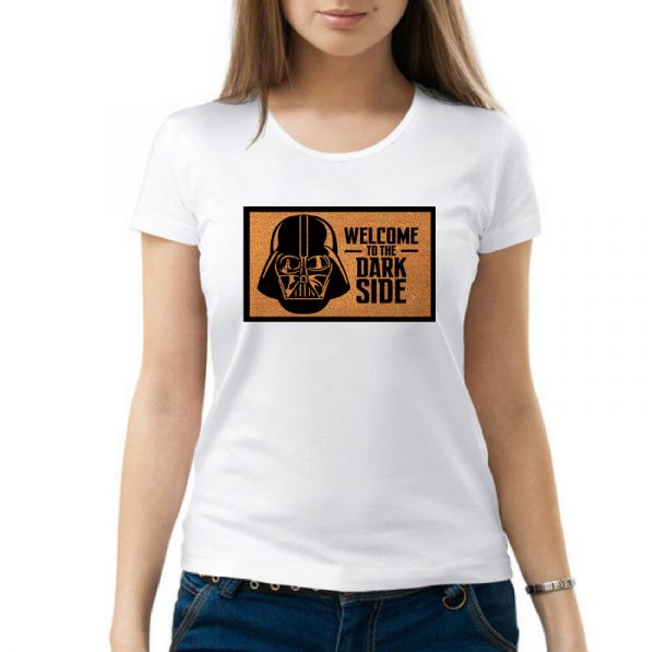 Изображение Женская футболка белая Star Wars Welcome to the Dark Side