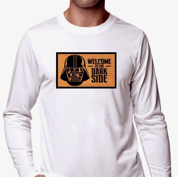 Изображение Мужской лонгслив белый Star Wars Welcome to the Dark Side