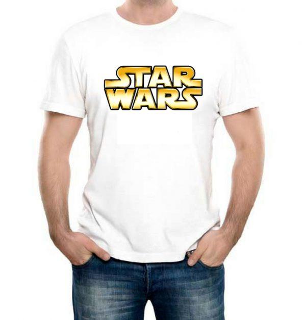 Изображение Мужская футболка белая Star Wars Лого