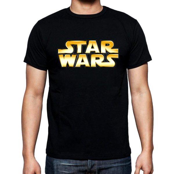 Изображение Мужская футболка черная Star Wars Лого
