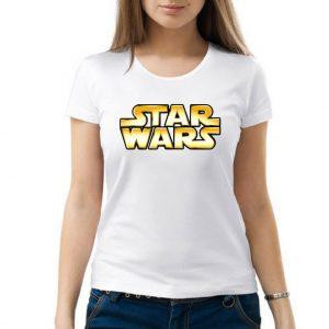 Изображение Женская футболка белая Star Wars Лого